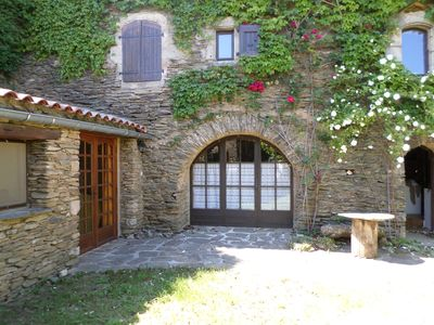 Photo for Holidays in the Cévennes in a charming typical hamlet (stone house)