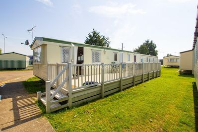 8 berth accommodation with decking at Seawick