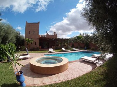 Photo for VILLA kasbah style, without VIS, exclusive swimming pool, enclosed garden