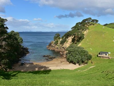 Photo for Basic holiday cabin with its own private sandy bay