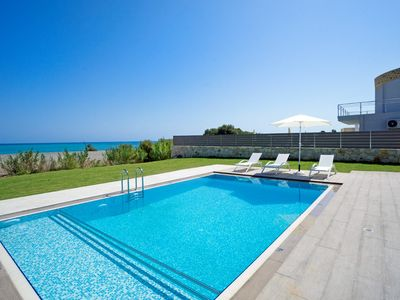 Photo for Beachfront Villa Tavronitis with 8 bedrooms and 2 private pools