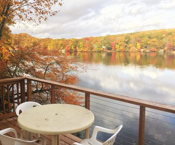 Photo for Cottage on the Lake with Beautiful Views from Two Decks, near Mystic & Foxwoods