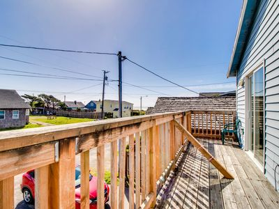Photo for Dog-friendly, oceanview home close to downtown and the beach!