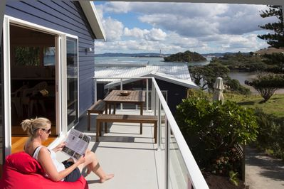 Manaia apartment deck view