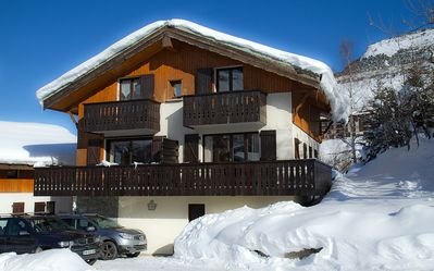 Photo for The slopes, 4 bedrooms ideal 2 families, near ESF Champamé