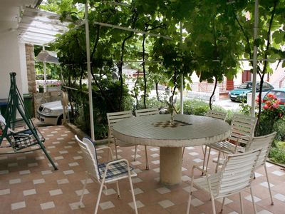 Photo for One bedroom apartment with terrace and sea view Crikvenica