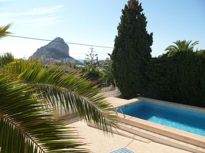 Photo for Superb Large Family villa in Calpe with UK TV, Air Con, Wifi and Pool