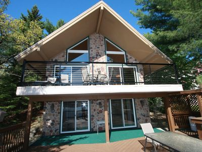 Photo for Enchanting Lakefront Chalet on Beautiful Lake Delton Includes Noah's Ark Passes