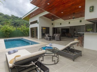 Photo for New Luxury Home, private pool! 300 steps to beach, 8 min. walk to bars & dining