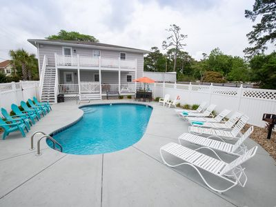 Photo for CAPE MYRTLE House -- private pool, family friendly, blocks to the beach!