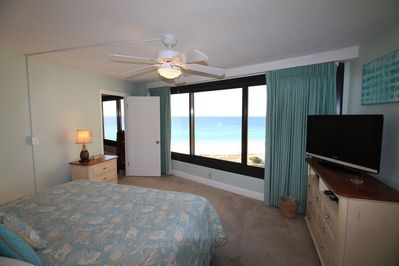 Wonderful beach view from master bedroom.
