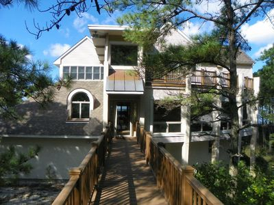 Photo for DUNE BRIDGE-Breathtaking Bay & Sunset Views From The Deck and Almost Every Room.