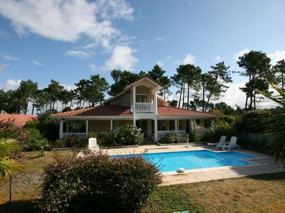 Photo for 3 bedroom villa on golf, beautiful garden, private pool wi fi