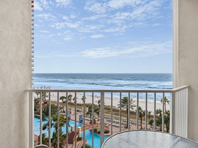 Photo for Condo features gulf views, shared pool and hot tub, great location near beach
