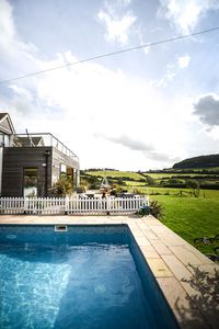 Photo for Seaview open plan house near Bridport and Lyme Regis with heated outdoo