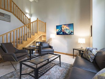Photo for New owner Specials !!! Townhome perfectly located between downtown, Ski resort and Whitefish Lake!!!