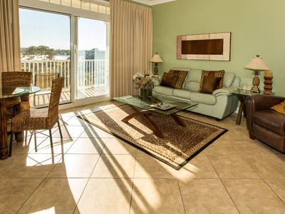 Photo for Cozy golf front condo with gorgeous views, shared pool and hot tub