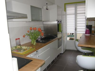 Photo for Apartment 3 rooms + kitchen (2 real bedrooms) quiet, renovation 2014