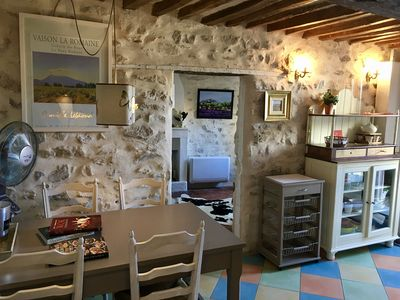 Photo for Romantic town-house in centre of Vaison-la-romaine with 22 sqm outside terrace!