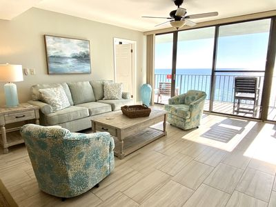 Photo for Spectacular Gulf Front Condo, 3 Bedroom with 2 Masters with amazing gulf views