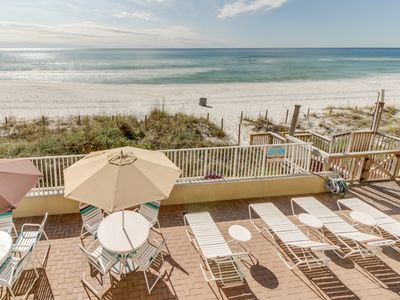 Photo for Gulf-front,  condo with a shared pool & views, right on the beach!