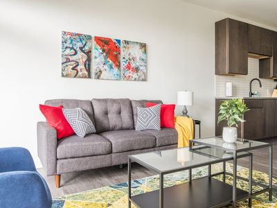 Photo for Bold + Artistic | Downtown Views @ 1br w/ Balcony