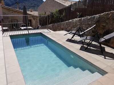 Photo for Charming Townhouse with sunny private pool and terrace in the old town,