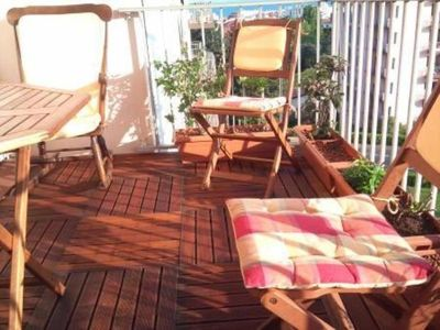 Photo for Biarritz Parking Terrasse 10 mn walk from the center Cleaning bed linen included
