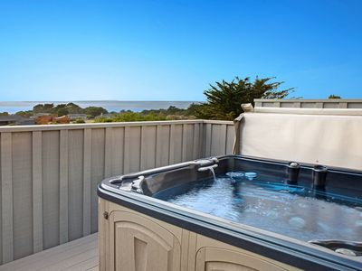 Photo for NEW LISTING! Dog-friendly ocean view home w/ deck, private hot tub & grill
