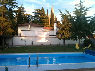 Photo for 120m² house w/garden & pool, small village, 20km to the beach