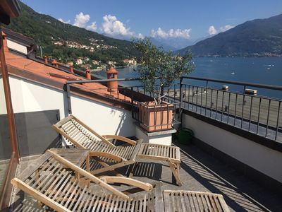 Photo for Luxury apartment on the shore of Lake Como with beautiful views