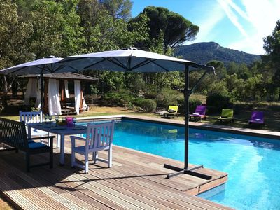 Photo for Magnificent family villa in absolute calm 20km from Aix-en-Provence