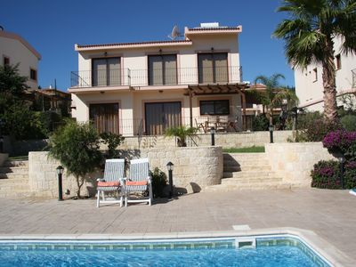Photo for A first class villa 3bedroom, big pool, panoramic uninterrupted sea view.Wi-Fi.