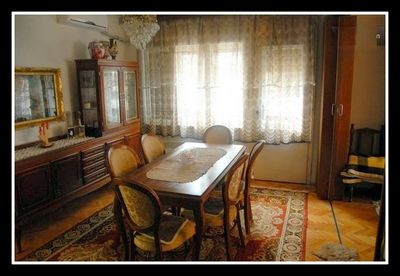 The traditional Dining Room can seat 6 people or ore with extensions.