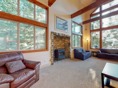 Photo for Spacious farmhouse-style home in the woods w/ a creek, & private pool table