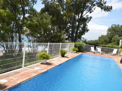 Photo for Beachfront villa protected private pool 4 bedrooms Marbella