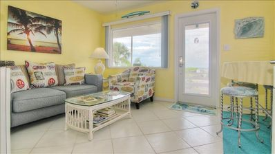 Photo for New Property, Cheerful Vacation Gem on Peaceful Sunset Beach in Treasure Island!