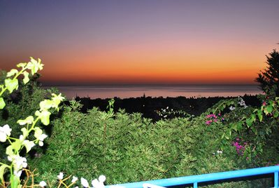 SUNSET FROM THE VILLA DIONYSUS TRANQUIL 3 BEDROOMS