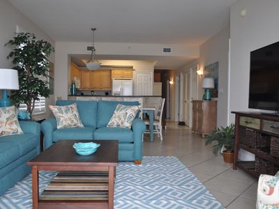 Photo for Spacious Beachfront 4 Bdrm Condo at Summer Place! FREE Beach Service for FOUR!