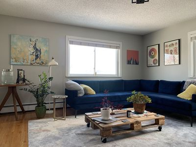 Photo for Spacious Mid-Century Modern 2 BR in Ramsay. 10 min walk to Stampede. Near DT