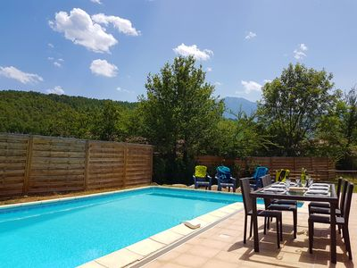 Photo for Spacious 4 Bedroom Villa with Private Heated Pool in Peaceful Mountain Village