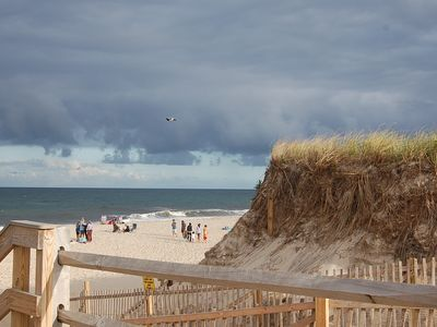 nearby famed Nauset Beach, stunning dunes and beach scape, lifeguard protected