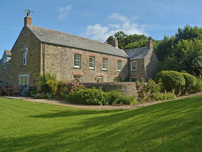 Photo for Luxury country farmhouse near the 'Cornish Riviera' coast set in seven acres. Dog Friendly.