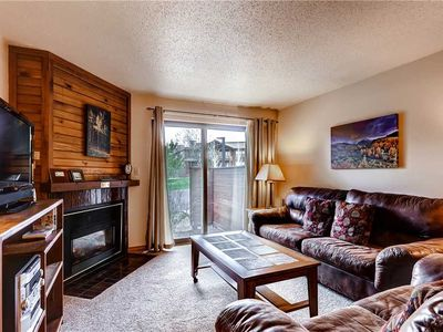 Photo for Cozy Fireplace, Private Patio & Onsite Pool!