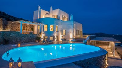 Photo for A NEW WAVE OF LIVING. ADONIS MYKONOS ELEGANT VILLA 6 BEDROOMS PRIVATE WITH LARGE POOL