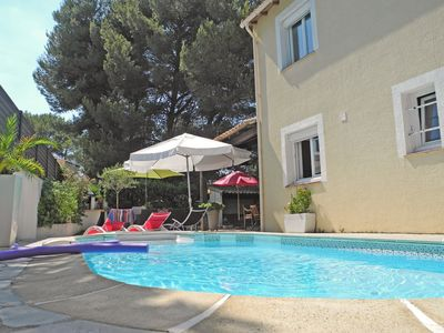 Photo for Beautiful family home with private pool and air conditioning, agglo Montpellier