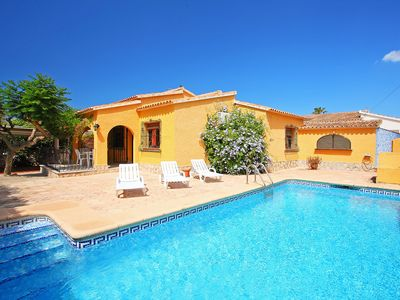 Photo for This 2-bedroom villa for up to 4 guests is located in Denia and has a private swimming pool, air-con