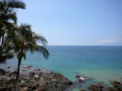 Spectacular Oceanfront Location - view from the private lanai of KS302