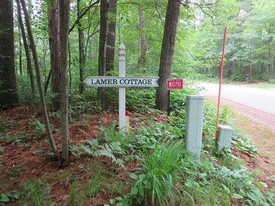 Our Entrance on Deer Lake Road. N11751. First driveway on the left off US Hwy 8