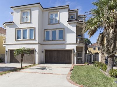 Photo for Malibu Beach Villa in South Padre! Luxury Vacation Rental in Gated Community with Pool!